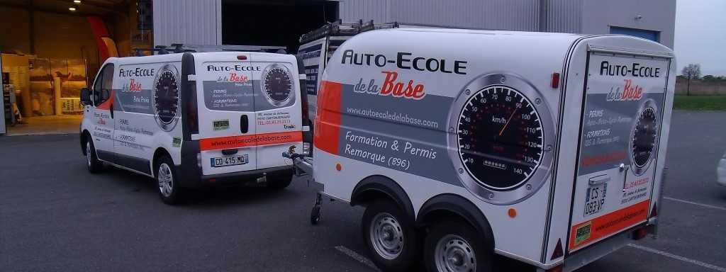 Covering véhicule utilitaire et remorque auto école