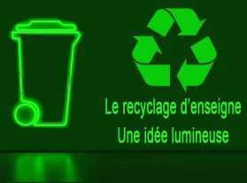 recyclage enseigne lumineuse