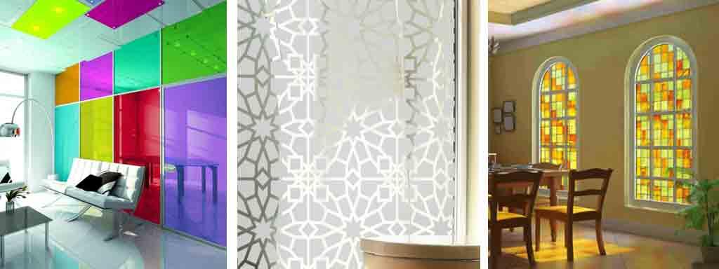 adhésif placard oriental vitraux