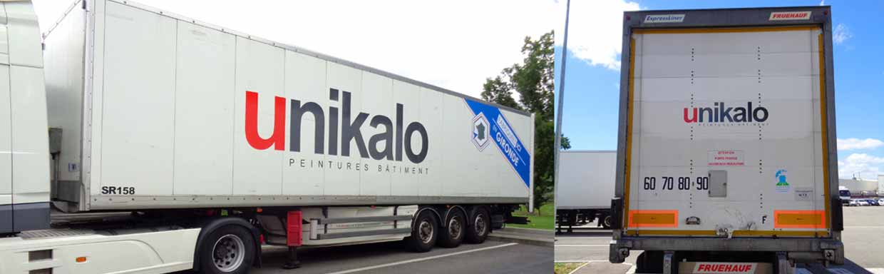 covering marquage sur camion unikalo